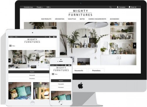 Template Responsive Mighty Furnitures - Prestashop 1.6