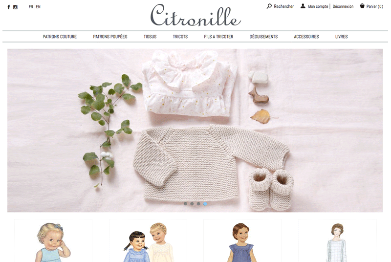 Citronille - Site e-commerce responsive Prestashop