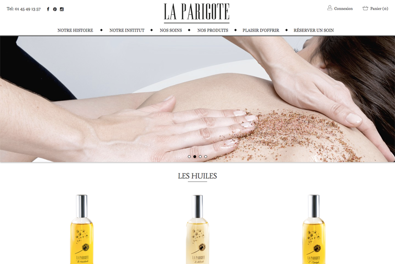 LA PARIGOTE- Site e-commerce responsive Prestashop