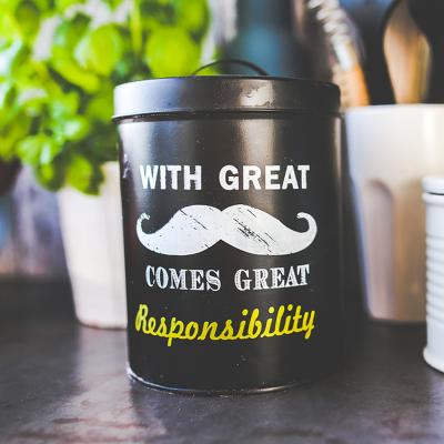 Boîte à café « Moustache »